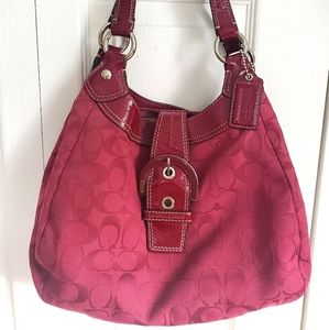 Genuine cloth and leather Coach purse
